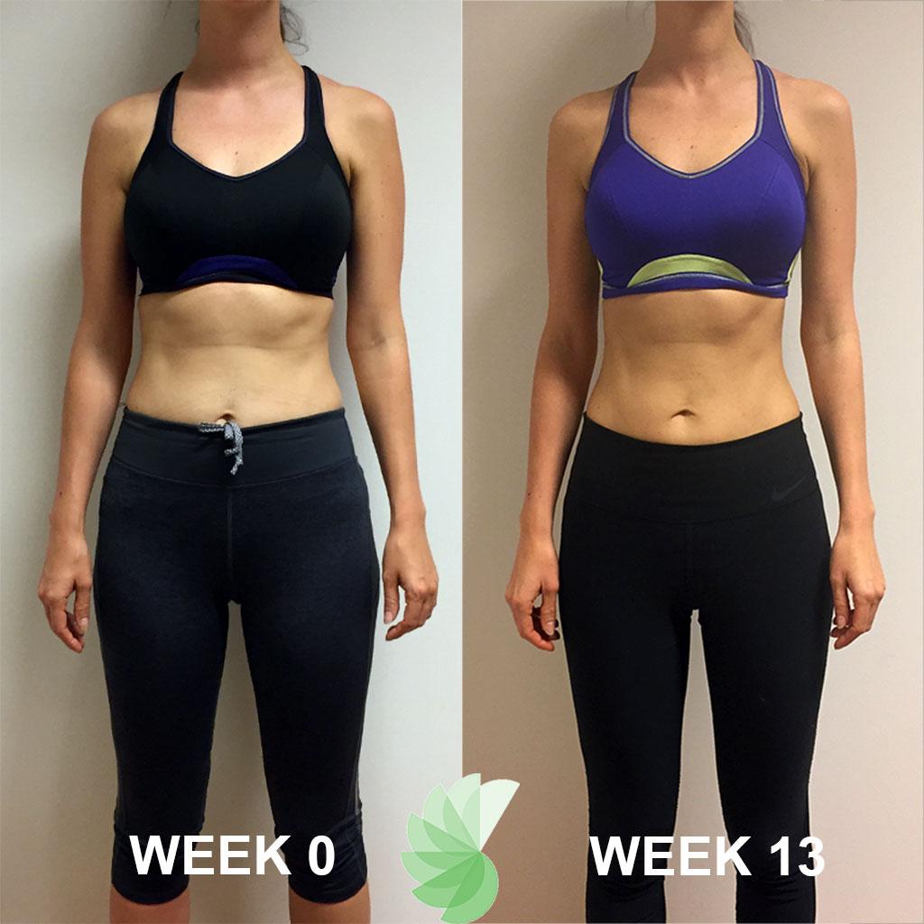 Van voor foto Inge 12 weken